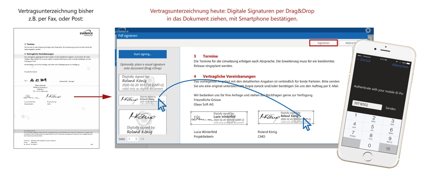 evidence Add-on - Digitale Signatur
